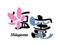 桜と魚をあしらった塩竈市のロゴ
