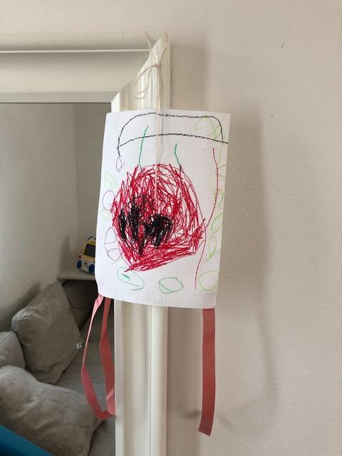 作った凧に描かれたモノは・・・?