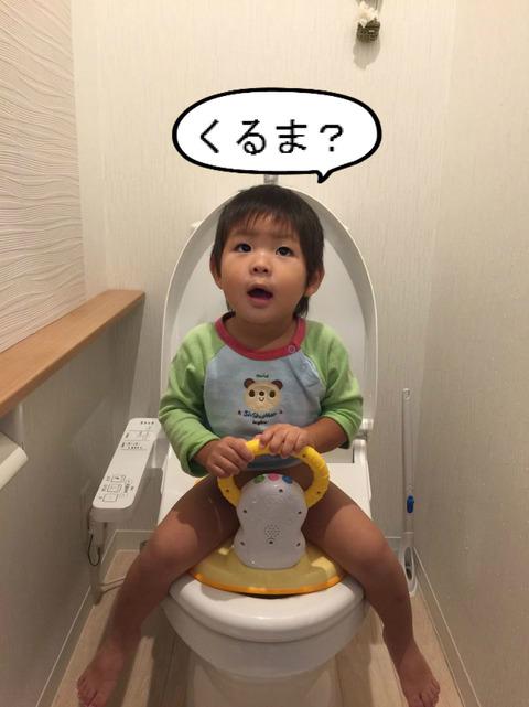 そろそろ2才やし、トイレも練習してみましょー。