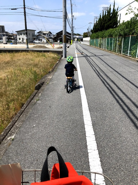 上手になると調子にノリ出す、自転車!