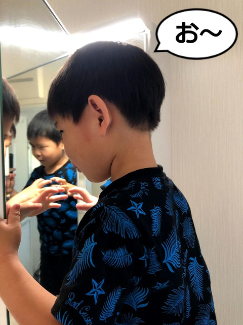 多面鏡ではっちゃんがいっぱい!