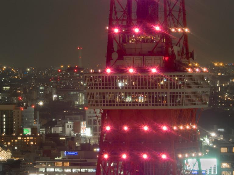 東京貿易センタービルから観る東京タワー20151031-6