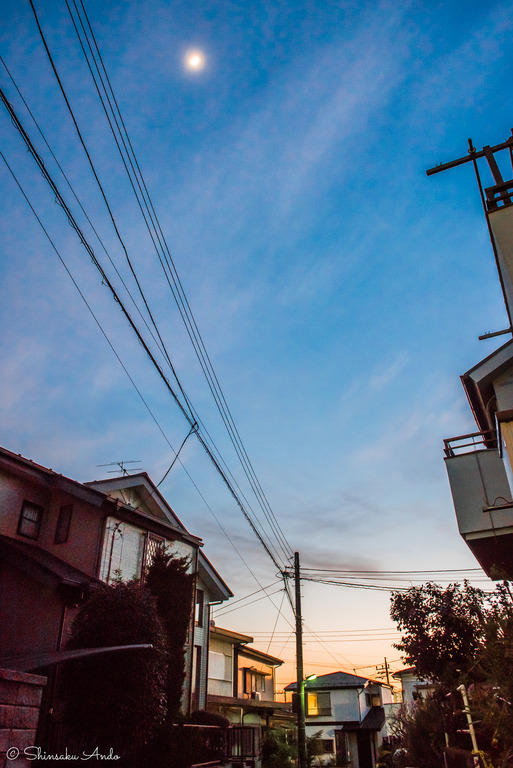 芝山4丁目の夕焼け20160304--3