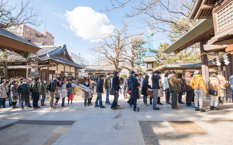 船橋大神宮へ初詣2017-4