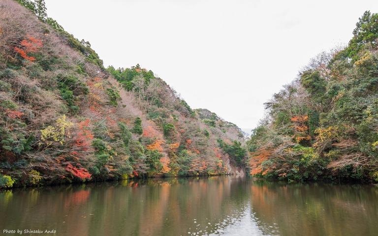君津市亀山湖の紅葉クルーズ20161211-8