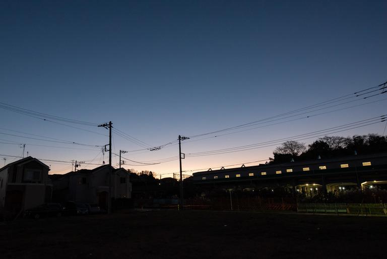船橋市_冬の朝焼け_1