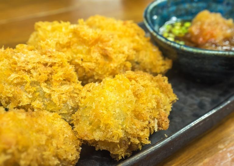 楽膳の牡蠣フライ