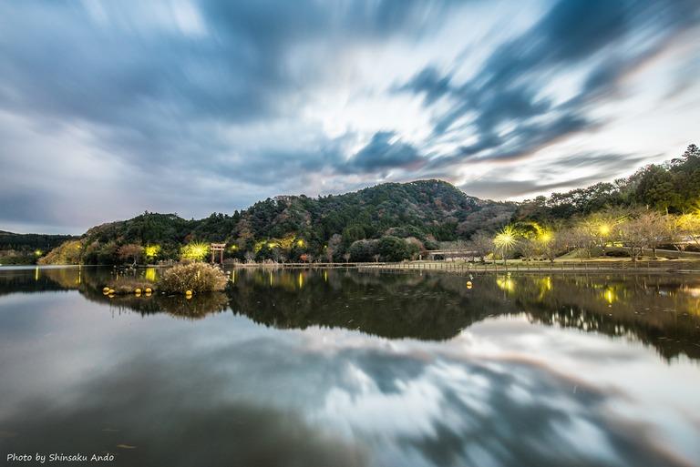 君津市亀山湖の夜明け20161211