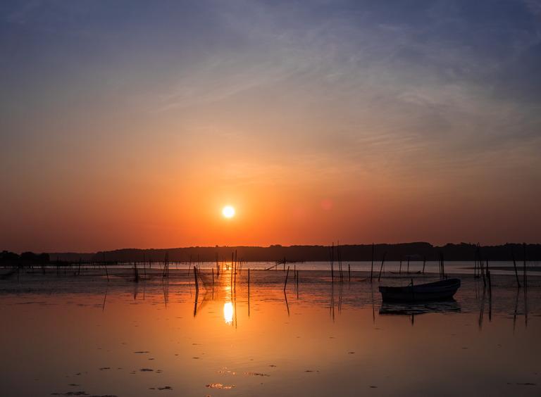 印旛沼の日の出20150514-2