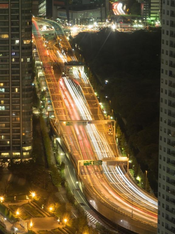 東京貿易センタービルから観る首都高20151031