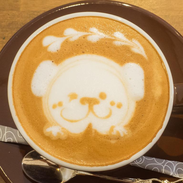 犬のラテアート‐2|ウォームハートコーヒー