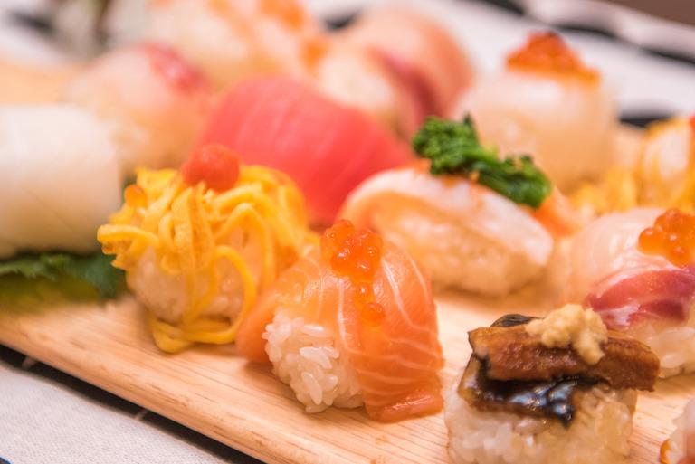 ひな祭りの手まり寿司2017-3