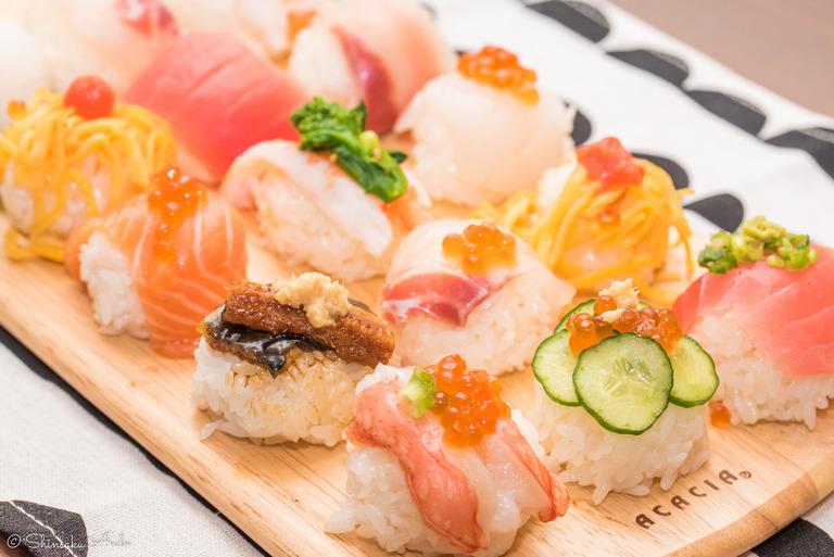 ひな祭りの手まり寿司2017-1
