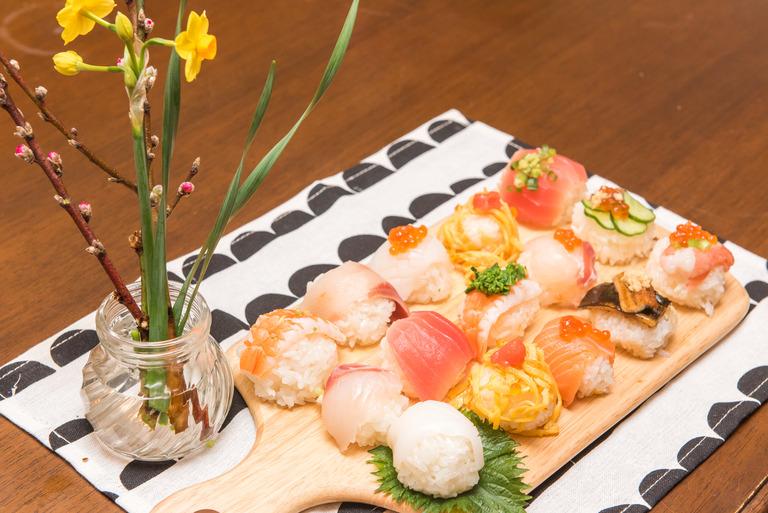 ひな祭りの手まり寿司2017-2