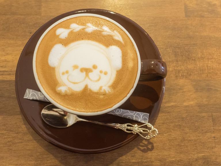 犬のラテアート‐1|ウォームハートコーヒー