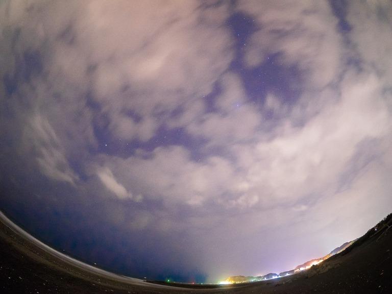 東浪見海岸の星空20160305-2