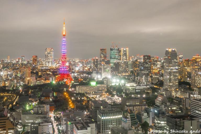 東京貿易センタービルから観る東京タワー20151031-1-2