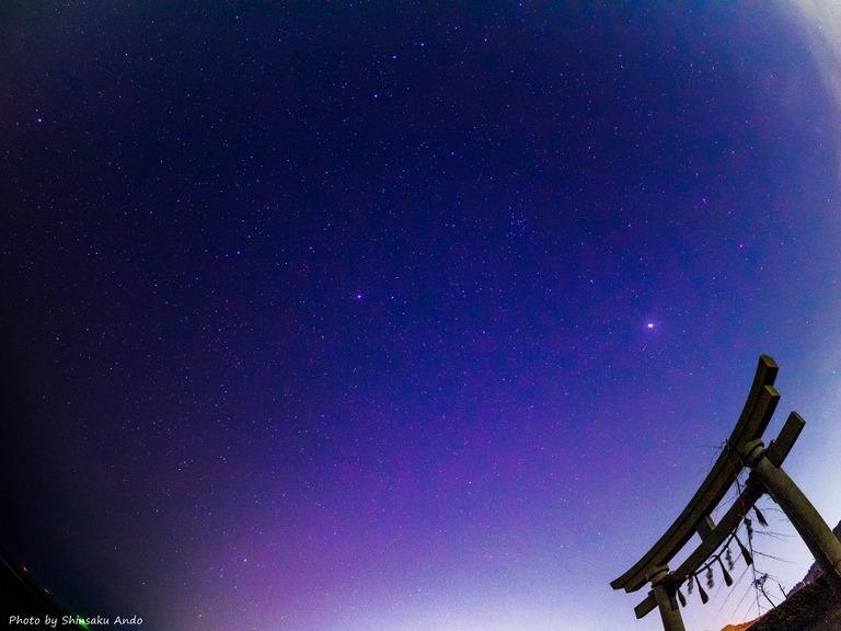 東浪見海岸の星空20160305-11-name