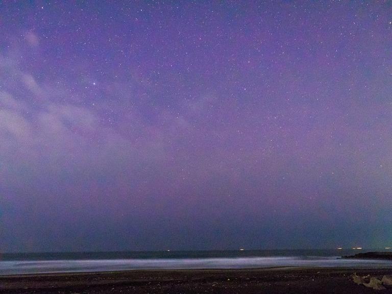 東浪見海岸の星空20160305-8