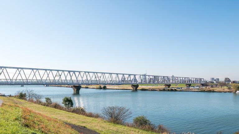 江戸川の河川敷-3