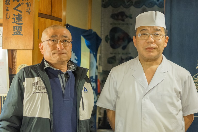 山田さんと小松菜農家の藤田さん