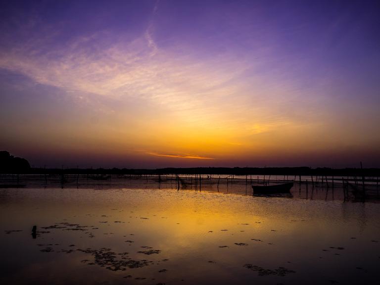 印旛沼の朝焼け20150514-4