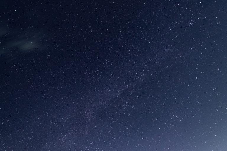 星空と天の川_館山港