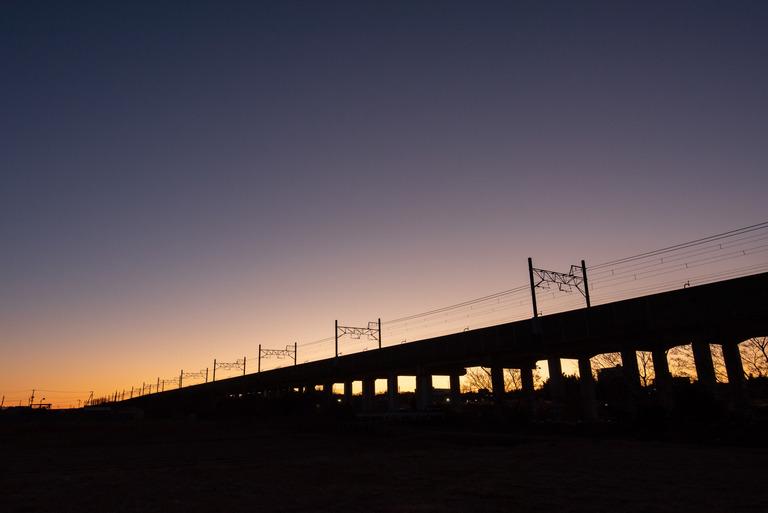 船橋市_冬の朝焼け_5