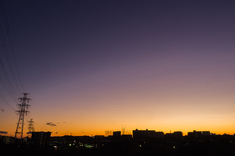 長津川遊水池の夕焼け20160124-1