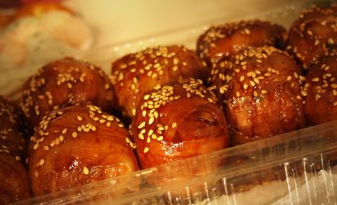小松菜ごはんの豚バラ巻き