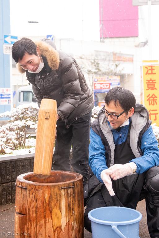 高根木戸中央通り商店会の餅つき2019_7