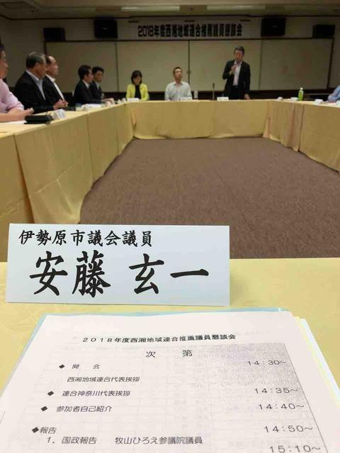 西湘地域連合議員懇談会