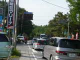 道路は渋滞(7:40頃)