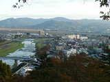 釣山公園から磐井川