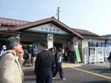 石和温泉駅(8時25分)