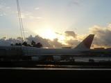 ホノルル空港の朝