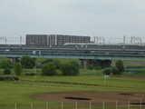 戸田橋と新幹線