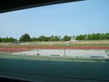 競技場で練習