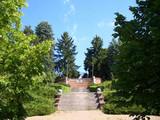 初夏の天文台裏門