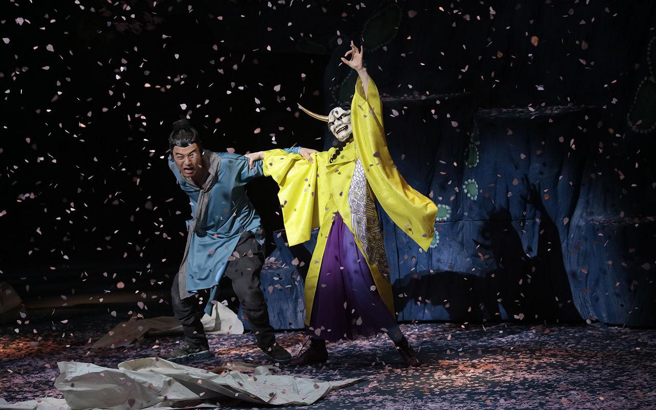★★1515「贋作 桜の森の満開の下」桜の中の夜長姫と耳男処理済み