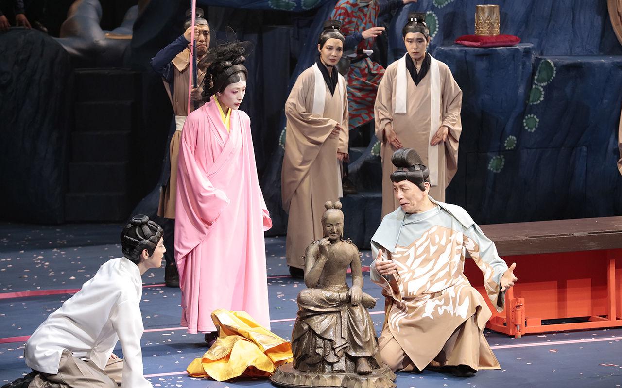 ★★1025「贋作 桜の森の満開の下」仏像と夜長姫とヒダの王処理済み
