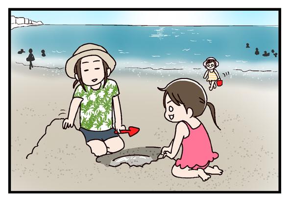 子連れ海水浴2018