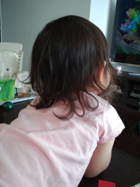 姉ちゃんは育児中-髪の毛が03