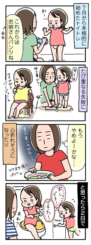 姉ちゃんは育児中-トイトレ