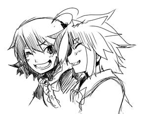 笑顔笑顔で。