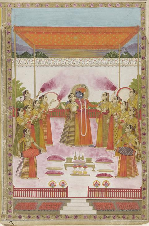 A_Holi_Festival_-_Krishna_Radha_and_Gopis