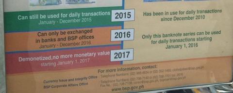 フィリピン旧紙幣の有効期限2
