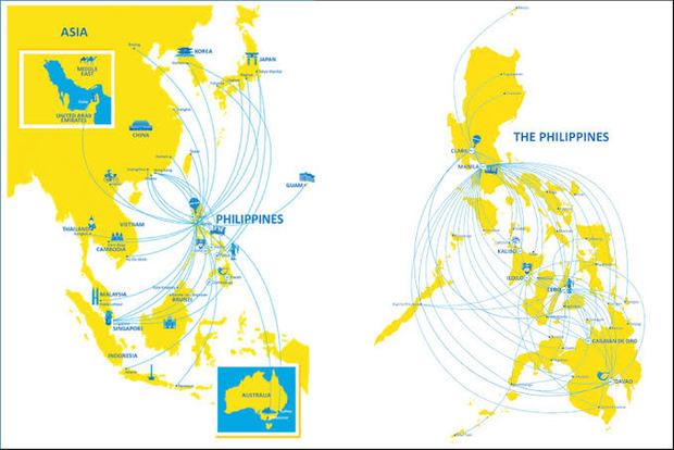 korea-philippines-airline-map