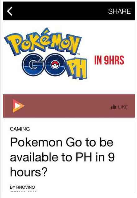 pokemongo available