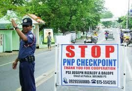 フィリピン警察検問